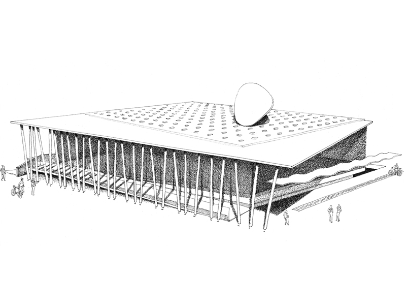 02_progettazione-concorso-mensa-alunni-brunico-schizzo-prospetto-brunoni