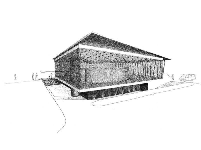 03_progettazione-concorso-mensa-alunni-brunico-schizzo-prospetto-brunoni