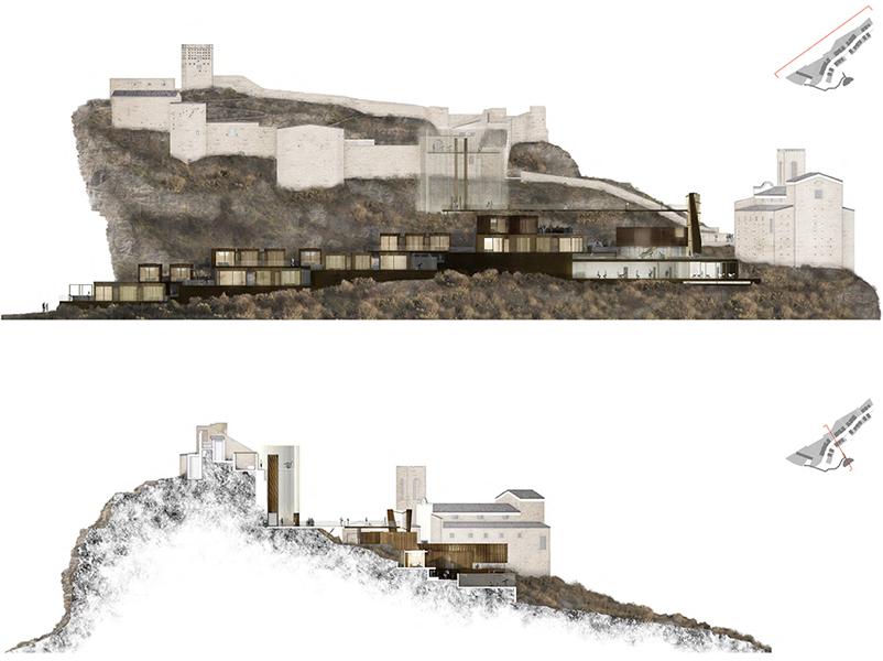 03_concorso-observatory houses-roccascalegna-prospetto-sezione-fotoinserimento-brunoniassociati